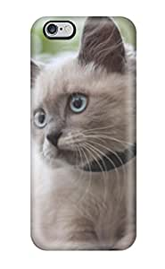 High Quality Cat With Beautiful Eyes Tpu Case For Iphone 6 Plus