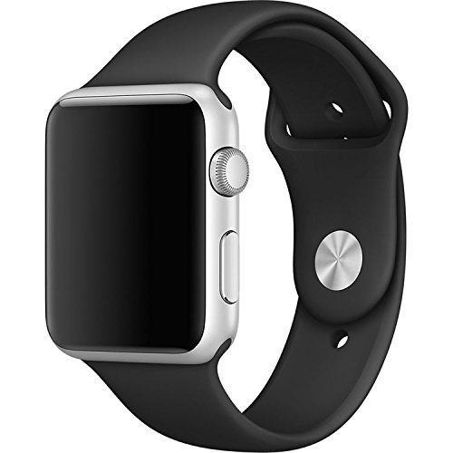 MOTEEV Soft Silicone Sport Band for 38mm Apple Watch Models (3 Pieces Bands Included 2 Lengths, for Apple Watch Series 1 Series 2 Series 3 2017 ),S/M/L Size, 38mm Sport (2 Piece Apple)