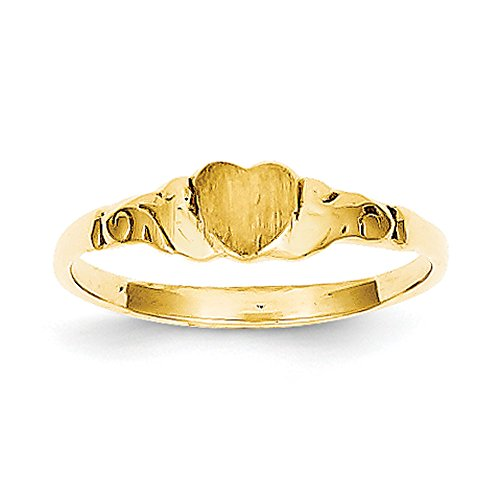 Baby and Children 14K Yellow Gold Signet Heart Ring