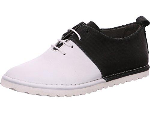 Felmini A149 White+black, Chaussures de ville à lacets pour femme white+black