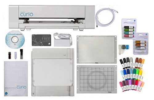 Silhouette Curio Digital Crafting Machine with Sketch Pens and Pen Holder by Silhouette