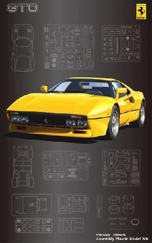 フジミ模型 1/16 スーパーカーシリーズ SC16 フェラーリ288GTO イエローボディ