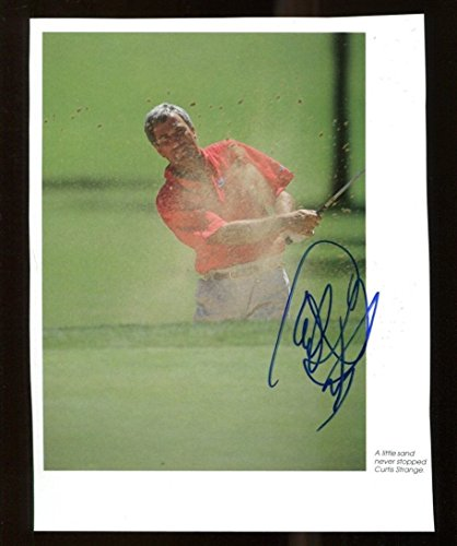 - Curtis Strange Signed Photo Book Page 5x7 Autographed PGA Golf 36215
