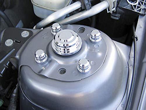 Pirate MU0031SC 2005-10 Mustang Chrome Billet 10pc Strut Tower Cap Kit