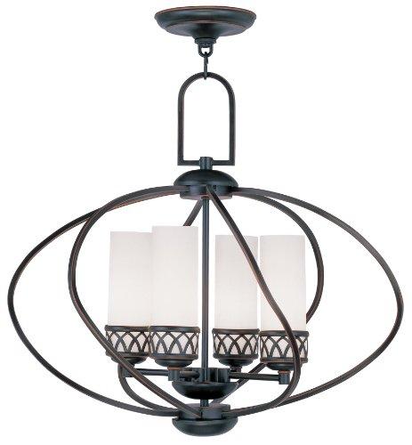 Livex Lighting 4724-67 Westfield 4-Light Chandelier, Olde Bronze