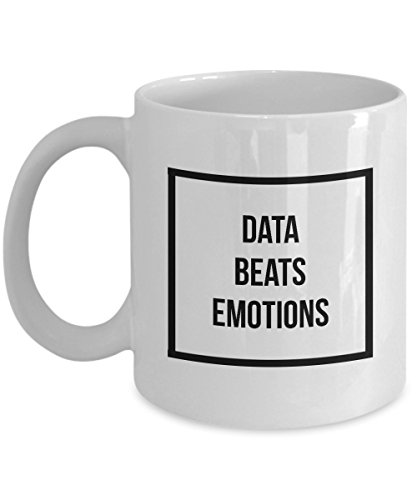 Data Beats Emotions - Coffee Mug | Tea Cup Perfect Funny Gift for Data Enthusiasts like Analyst, Scientist, Statisticians & Others (Mba In Data Science And Data Analytics)