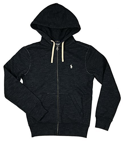 Polo Ralph Lauren Classic Full-Zip Fleece Hooded Sweatshirt (X-Large, Blue ()
