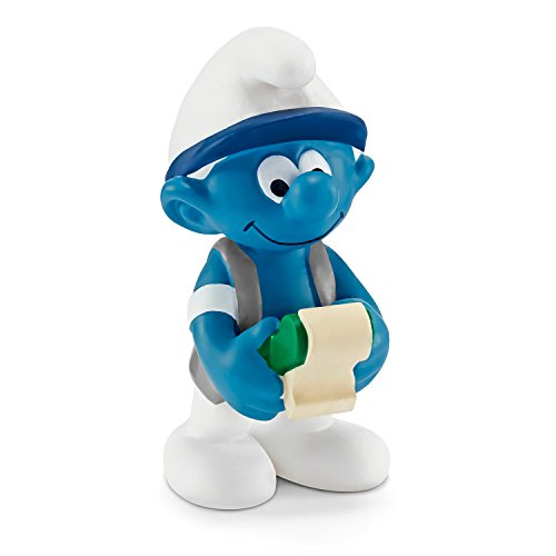 Smurfs Figurine (Schleich North America Accountant Smurf Toy Figure)