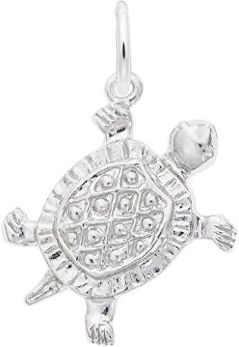 Rembrandt Turtle Charm - Metal - 14K White -