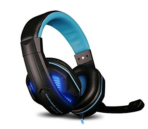 OVANN KX Gaming Headset Over-Ear-Kopfhörer mit Lautstärkeregler für PC KX05