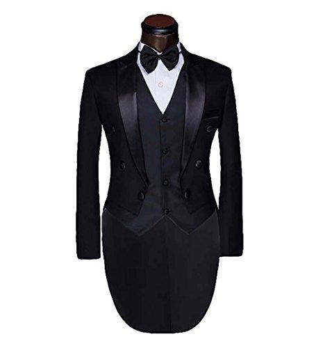 Men's luxury Casual Stylish Dress Suit Slim Fit Blazer Coats Jackets & Vest & (Tux Coat)