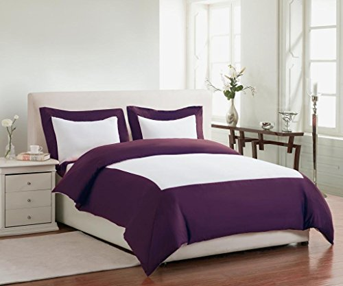 Regency King Duvet Cover Set - PLUM - Regency King Duvet Cover