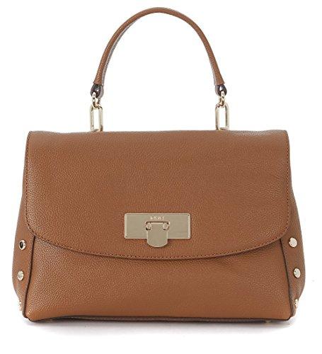 Dkny Women's Dkny Medium Camel Tumbled Leather Handbag With Studs Brown