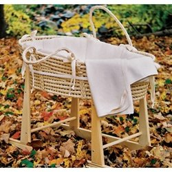 Moses Basket Rocker - Wooden Rocker by Little Merry Fellows