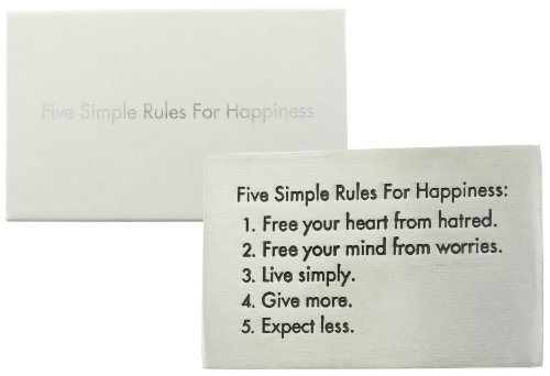 Five Rules Live Pewter Paperweight product image