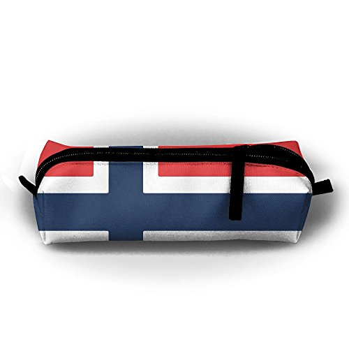 Watercream Norway Flag Type Student Pen Pencil Case Stationery Pouch Coin Purse Makeup Bags Office Storage - Norway Online Shopping