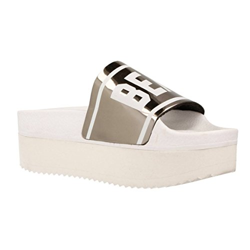 THEWHITEBRAND CHANCLA HIGH HOLY SILVER Mujer Silver