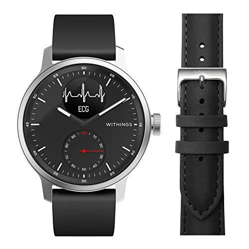 Withings ScanWatch – Reloj Inteligente híbrido con ECG, tensiómetro y oxímetro, 42 mm, Color Negro + Nokia Salud Reloj…
