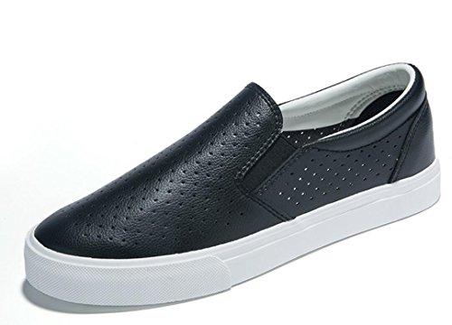 Black Xie Cuoio Da Scarpe 37 Net Black Daily Piatti Movimento Bottoni 37 Svago White Di Lady Shoes Studenti rrxO5Eqw
