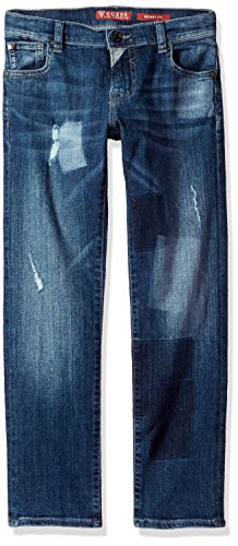GUESS Big Boys' 5 Pkt Skinny Fit Jean, patching, 12 (5 Pkt Skinny Jean)