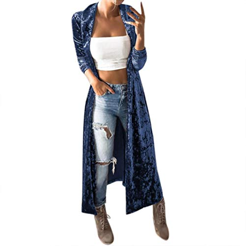DongDong Women Fashion Cardigan Velvet Solid Long Sleeve for sale  Delivered anywhere in Canada