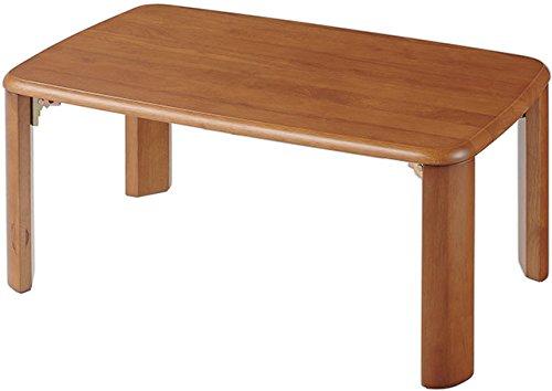 アウトレットファニチャー ローテーブルちゃぶ台 ブラウン 本体サイズ(約):幅75×奥行50×高さ33cm B074Z3KLH4