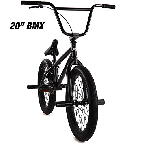 "Elite 20"" BMX Bicycle The Stealth Freestyle Bike (Matte Black)"