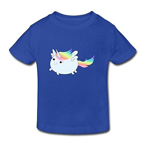 XFSHANG Kids Toddler Funny Blank Cute Fat Card Unicorn T-Shirt RoyalBlue US Size 3 Toddler