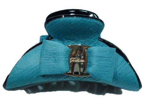 rougecaramel - Accessoires cheveux - Pince cheveux noeud petit modèle - turquoise