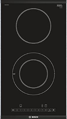 Bosch Serie 6 PKF375FP1E hobs Negro Integrado Cerámico - Placa (Negro, Integrado, Cerámico, Vidrio y cerámica, Acero inoxidable, Tocar)