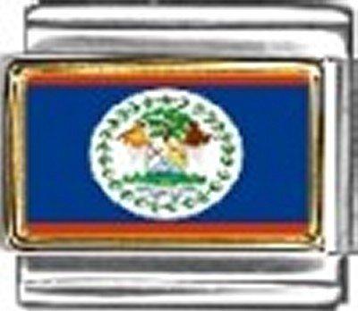 Belize Photo Flag Italian Charm Bracelet Jewelry - Charm Italian New Photo 9mm