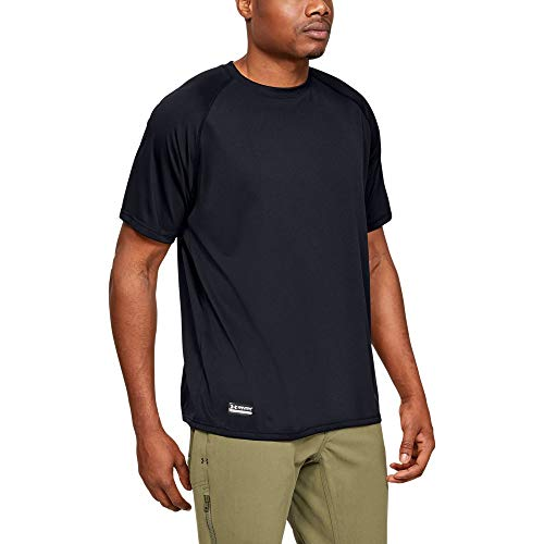 Under Armour Men's Tactical Tech T-Shirt, Black /Clear, Large