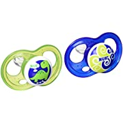 NUK Breeze 2 Piece Orthodontic Pacifier, Boy, 6-18 Months