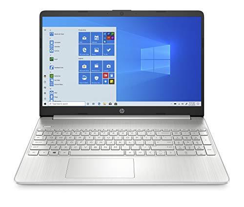 HP 10th Gen Intel Core i3 15.6-inch Laptop (i3-1005G1/4GB/512GB SSD/Windows 10 Home/MS Office/Natural Silver/1.77kg), 15s fr1004tu