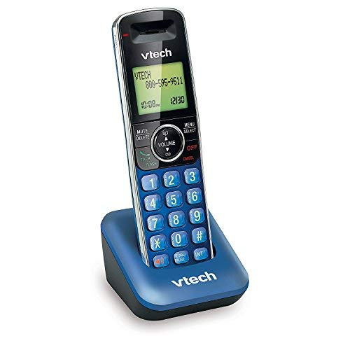 VTech CS6409-15 Accessory Cordless Handset, Blue | Requires a VTech CS6419 or CS6429 Series Cordless Phone System to Operate