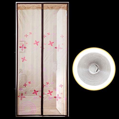 フルフレーム バックドア カーテン, 魔法のマグネット開閉式 バグを保つ そして 蚊アウト 南京虫対策 防蚊を飛ぶ-a W:85cmxh:210cm