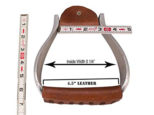 Tahoe Tack Engraved Heavyweight Adult Western Bell Show Stirrups