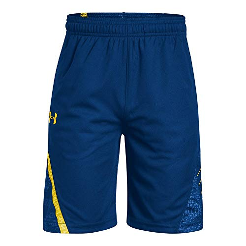Under Armour Boys SC30 Short, Royal (400)/Taxi, Youth Small