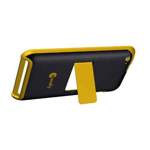 Macally CaseStandYT4 Snap-On Case with Stand for iPod Touch - Black/Yellow