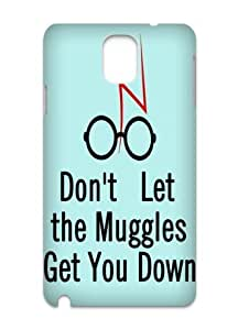 Don't Let the Muggles Get You Down Hard Durable Back Case Protective For Your Samsung Galaxy Note3 N9000 Skin