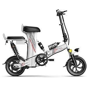 41e62XwIrFL. SS300 JXH Folding Mountain Bike per Freni a Disco Doppio per Adulti 48V 8AH Montagna Bicicletta elettrica e, con Display LED…