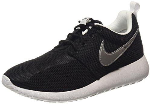 Nike Kid's Roshe One GS Black/White/White/Metallic Silver (Youth Nike Shoes)