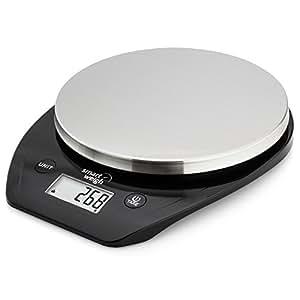 Smart Weigh Bascula Multifuncional para Cocina y comida con Plataforma en Acero Inoxidable, Pantalla grande LCD y Seis Modos de Pesaje, 5kg/11lb x 1g/0.1oz
