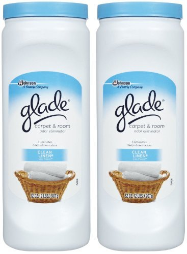 Glade Carpet & Room Deodorizer - Clean Linen, 32 Ounce (Pack of 2) by Glade