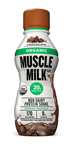 Muscle Milk Organic Protein Shake, Chocolate, 20g Protein, 12 FL OZ, 12 Count