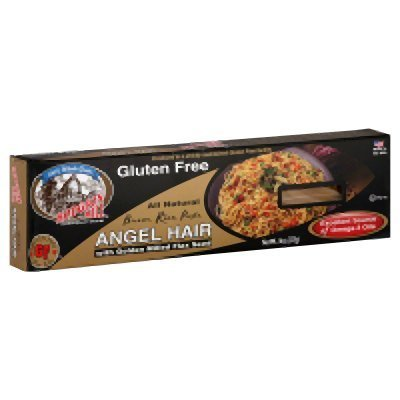 1-Hodgson Mill GLUTEN FREE Brown Rice Pasta Angel Hair With Golden Milled Flax Seed (8 oz)
