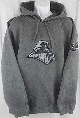 VF Purdue Boilermakers NCAA Mens Fuzzy Logo Hoodie Charcoal Adult Sizes (2XL)