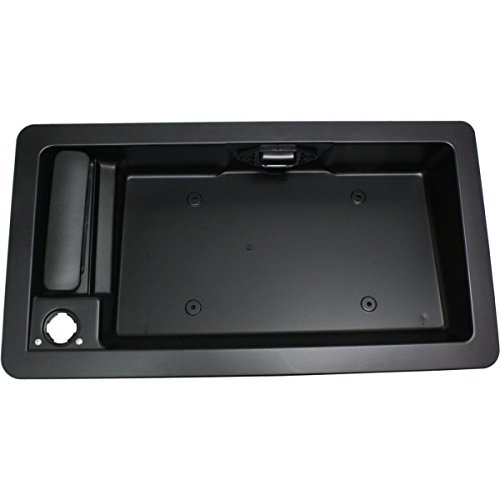 Sentinel Parts Back Exterior Outside Door Handle & License Plate Tag Bracket Rear Cargo for 1992-2007 Ford Van E150, E250, E350 6C2Z-15434A20-AA, ()