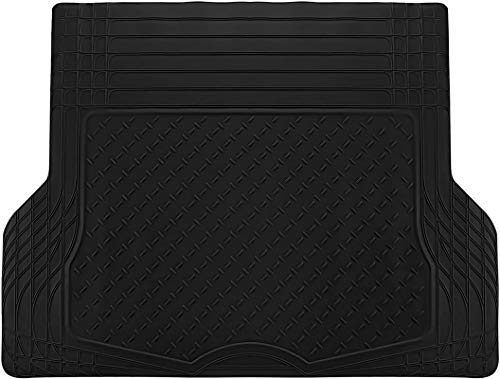 Motorup America Auto Floor Mats (Trunk Cargo Liner) All Season Rubber - Fits Select Vehicles Car Truck Van SUV, Black