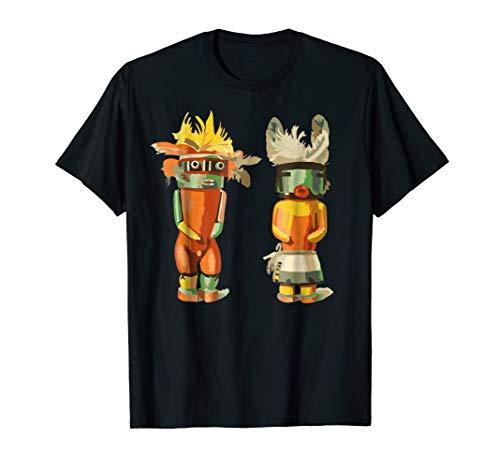 Native American KACHINA DOLLS abstract 2 - Fan Fun T-Shirt